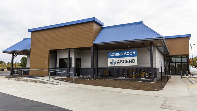 The new Ascend Cannabis Dispensary on Horizon Drive is nearing completion, Thursday, October 15, 2020, in Springfield, Ill. The new facility is slated to open in early November and joins with the Illinois Supply & Provisions location in downtown Springfield as locations to purchase recreational cannabis.