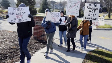 Friends of the Black River Forest protest in Kohler over golf course