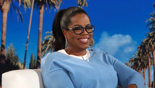 Oprah Winfrey addresses the Las Vegas shooting on an episode of 'The Ellen DeGeneres Show' Wednesday.