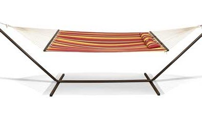 About 13,900 Destination Summer Hammock Stands sold exclusively at Bed, Bath & Beyond stores are affected by the nationwide recall, which were sold from March 2014 through July for about $99.
