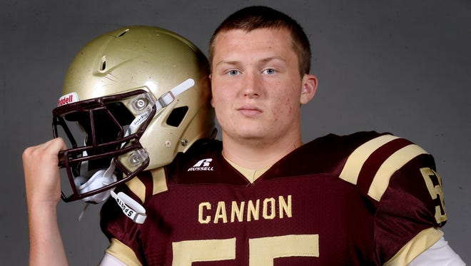 Cannon County senior center/defensive end Cole Hill is the most experienced of the returning starters.