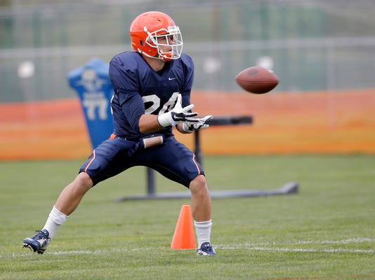 UTEP football player Daniel Siller trains in Ruidoso, New Mexico.
