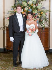Debutante Jessica Morgan Griffin and her escort, Charles