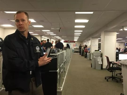 Brock Long, administrator for the Federal Emergency Management Agency, talked to reporters Sept. 9 about FEMA hurricane response efforts in the agency's command center.