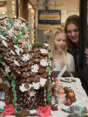 Vistiors to the Grove Arcade can enjoy entries from the National Gingerbread House Competition.