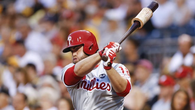 """Coming out of spring training we knew our starting lineup and roles. ... I felt like I did that pretty well. I don't know what's going to happen over the next month, month-and-a-half, so we'll see, I guess,"" Phillies' Darin Ruf said."