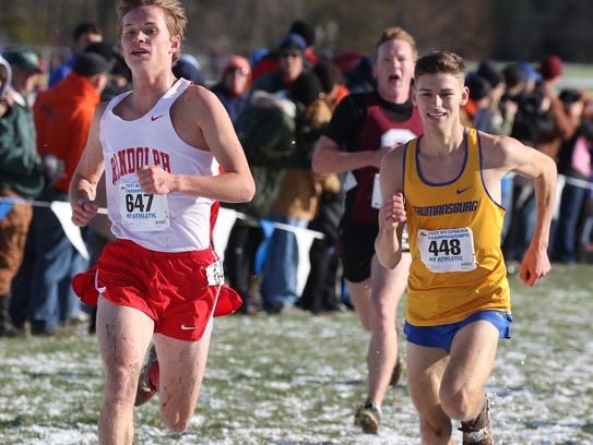 Trumansburg's Evan Whittaker tries to catch up with