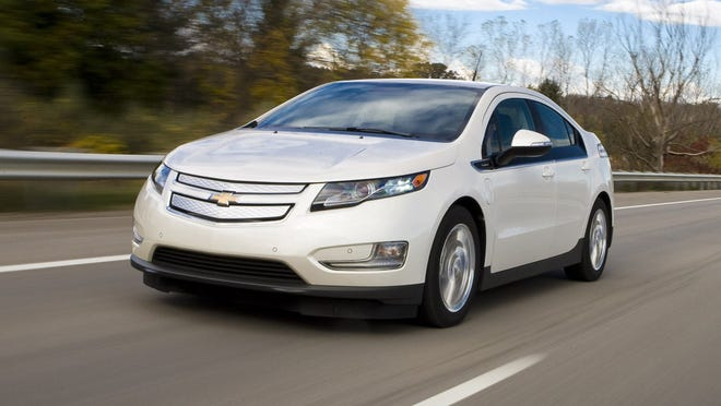 The 2015 Chevrolet Volt. GM plans to introduce a redesigned Volt at the Detroit auto show in January, so expect better range, improved design and possibly a lower price.