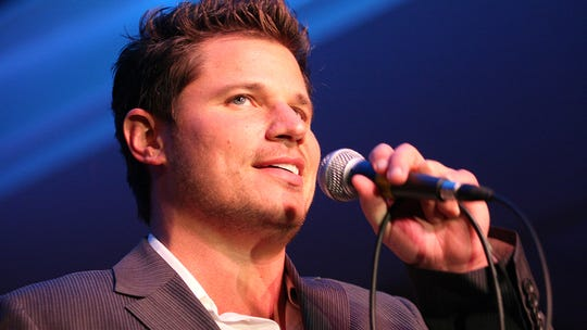 Nick Lachey singing at  Music Hall.