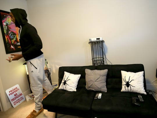 Pacers rookie Rakeem Christmas has one of the more unique apartments with a snake, dead mice, dark artwork and a Chucky doll.