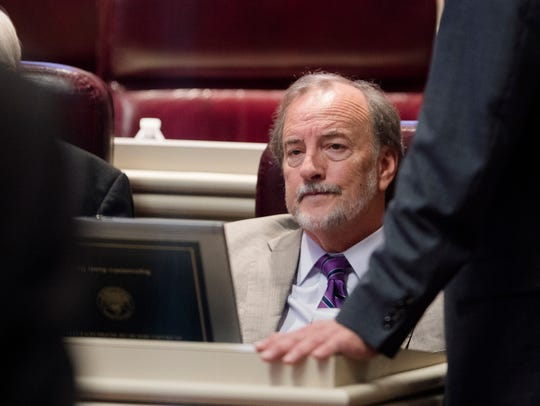 Rep. Randy Davis, R-Daphne, looks on in the House Chambers