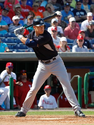 Aaron Judge has played some center field at Class AAA, even though he's 6-7.