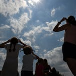 PHOTOS - Viewing the eclipse at the Lyon Township Library