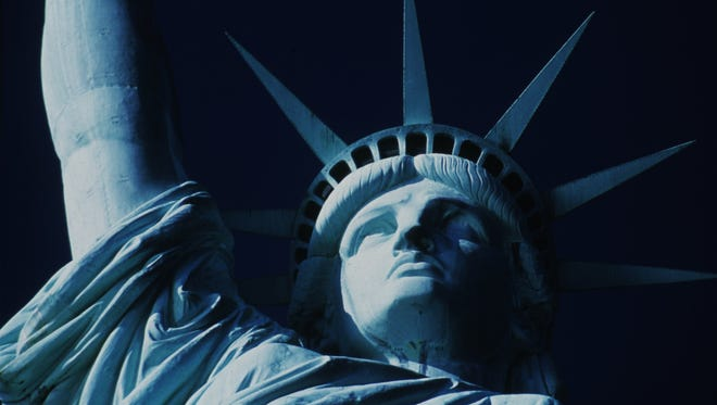 The Statue of Liberty, as shown in a 2000 photo.
