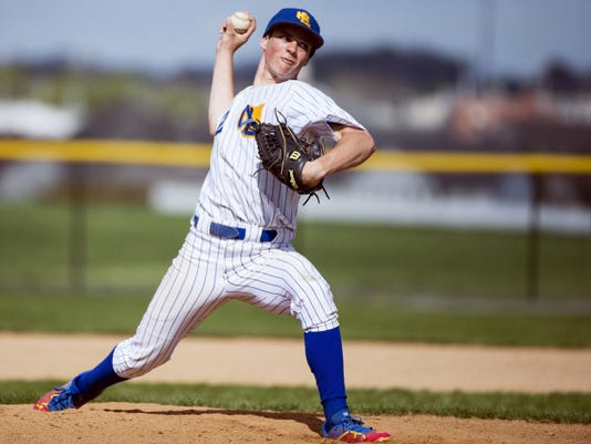 Northern Lebanon's Isaac Wengert delivers a pitch during a regular-season game against Cedar Crest on Saturday. Northern Lebanon defeated Cedar Crest, 7-2.