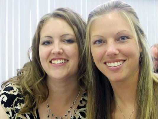 Heather Myers, left, is shown with her sister Holly Herbert.