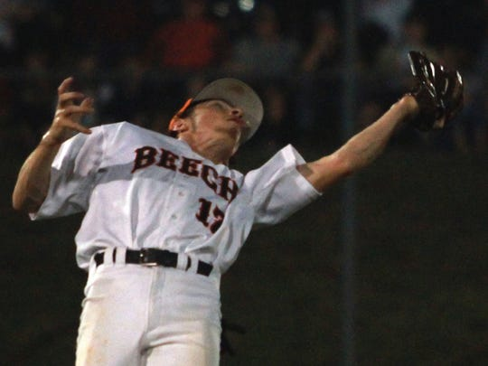 Beech shortstop Nelson Smith catches a pop up on shallow
