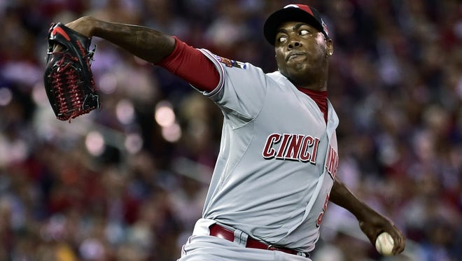 Aroldis Chapman retired both batters he faced in Tuesday's All-Star Game in Minneapolis.