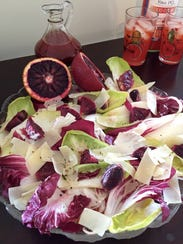 This spring salad combines radicchio, endive and blood