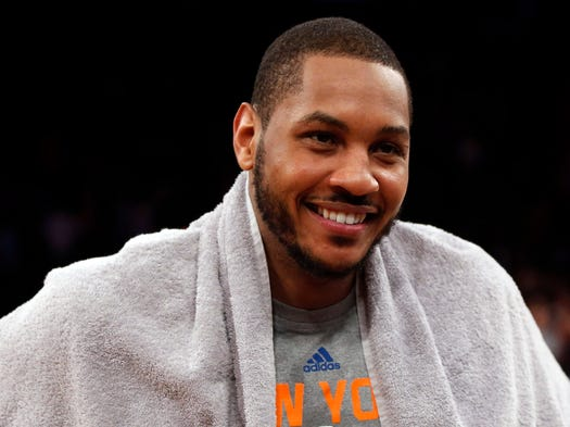Carmelo Anthony was all smiles after scoring a Knicks franchise-record and career-high 62 points in New York's 125-96 rout of the Charlotte Bobcats at Madison Square Garden.