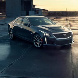 The all-new 2016 Cadillac CTS-V luxury performance sedan has a top speed of 201 mph