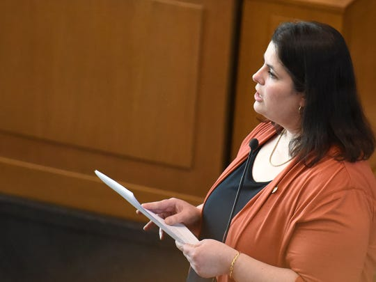 Rep. Julie Parrish, R-Tualatin/West Linn, who opposes SB 324, speaks to members of the House on Wednesday at the Oregon State Capitol in Salem.