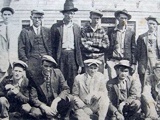 A group of employees of the Marion Manufacturing Company who were present when strikers and officers clashed.