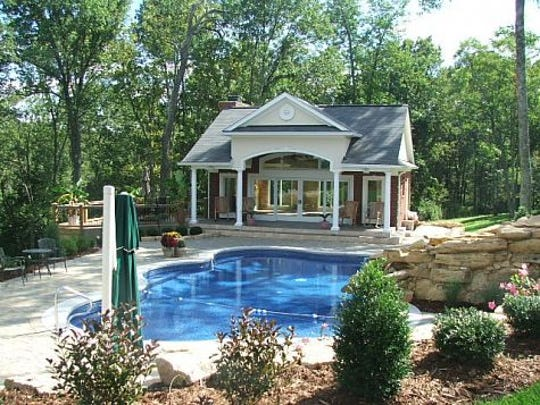 A view of the poolhouse at Ali's former home in eastern Jefferson County.