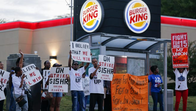 Fast food workers and labor activists seeking a $15 minimum wage plan another strike next week and are aiming to sway next year's elections.
