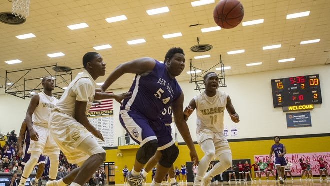 FILE – Ben Davis High School junior Dawand Jones (54) is a force on the basketball court.