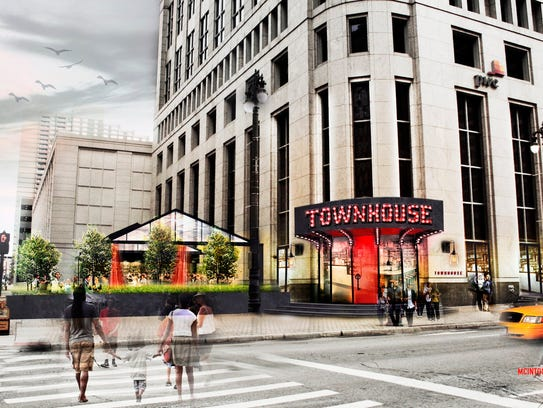 "Townhouse restaurant will feature an all-glass ""house"""