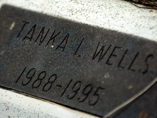The marker at the gravesite of Taneka Wells was misspelled