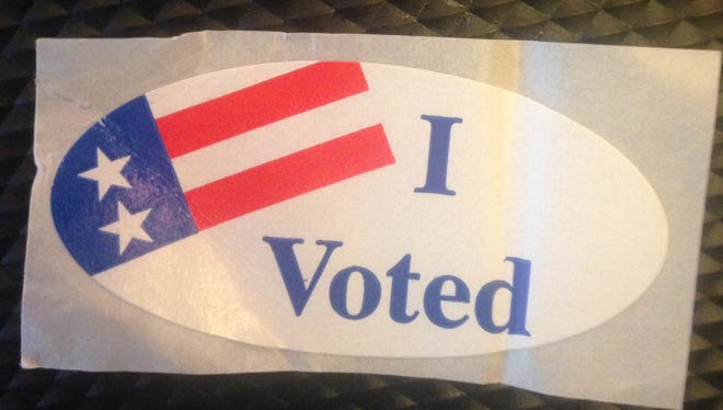 It's a little worse for wear, having been in my pocket during my run back from the polling place. But you get the point.