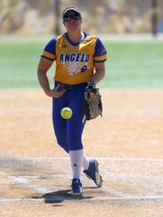 Angelo State senior pitcher Brandy Marlett has helped the Rambelles go 6-0 against Commerce the last two seasons.