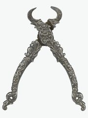 Shears, 17th century. France. Wrought iron, chisel-finished.