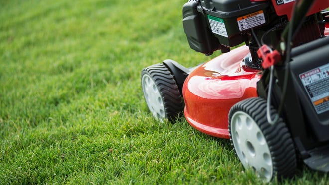 Keep children safe while mowing grass
