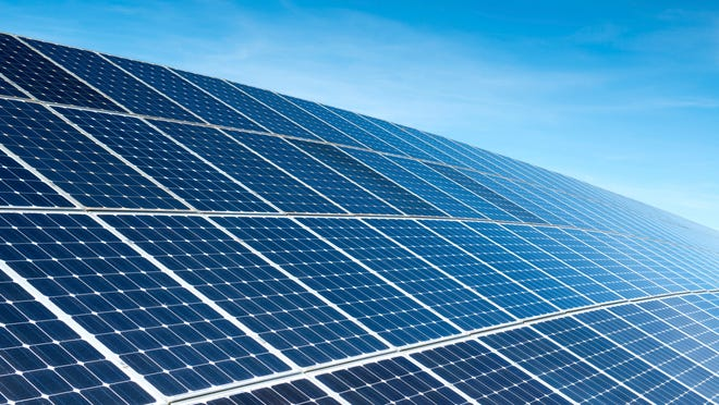 Land that can't be used for much of anything after being a landfill makes a good place to set up a solar installation.
