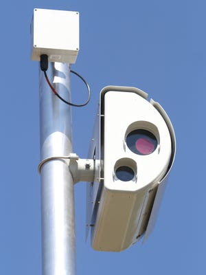 A red light camera at the intersection of Old New Brunswick Road and Centennial Avenue in Piscataway. Jason Towlen/Staff Photographer Piscataway, NJ - A red light camera at the intersection of Hoes Lane and Centennial Avenue, Wednesday, July 25, 2012. JASON TOWLEN/STAFF PHOTOGRAPHER Twitter: @jtowlen