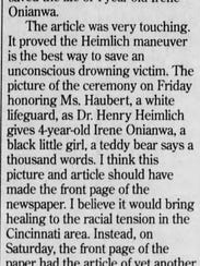 A letter to the editor from 15 years ago.