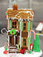 A gingerbread house made at Riviera Bakehouse,  in