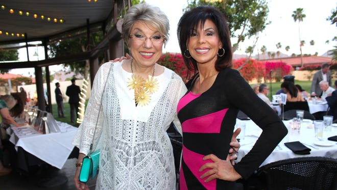 """Jo Rosen (""""PRO"""" President and Founder), Janet Zappala (KMIR Reporter and Anchor, and Event Emcee)"""