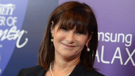 In this Oct. 4, 2013 file photo, Amy Pascal, Sony Pictures Entertainment co-chairman, arrives at Variety's 5th Annual Power of Women event at the Beverly Wilshire Hotel in Beverly Hills, Calif. Sony on Thursday, Feb. 5, 2015 announced that Pascal will step down as co-chairman of Sony Pictures Entertainment and head of the film studio, nearly three months after a massive hack hit the company and revealed embarrassing emails.