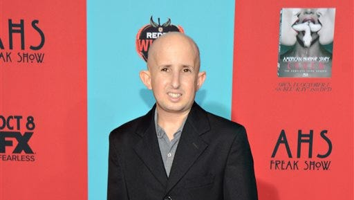 "Ben Woolf arrives at the premiere screening of ""American Horror Story: Freak Show"" at TCL Chinese Theatre in Los Angeles, Calif., on Oct. 5, 2014.  Woolf died Monday, Feb. 23, 2015."