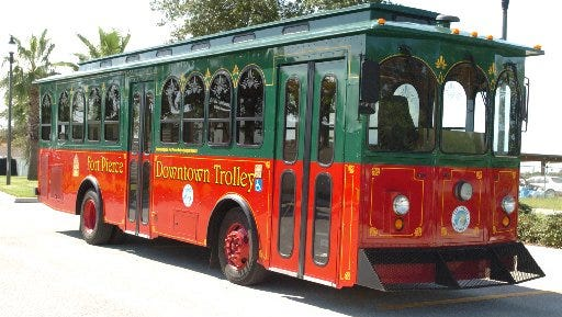 Historic Trolley Tours Main Street Fort Pierce. Reservations: 772-466-3880.