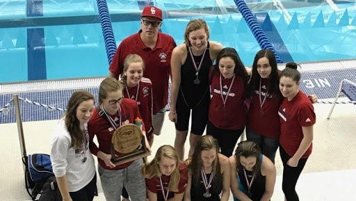 The Carolina Day girls were the runner-up team and the the boys placed third at Monday's NCISAA 1-A/2-A swim meet in Greensboro with lots of podium finishes.