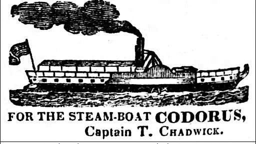 The York-built steamboat 'Codorus' was a metal-hulled steamboat that, despite its name, worked the waters of the Susquehanna River.