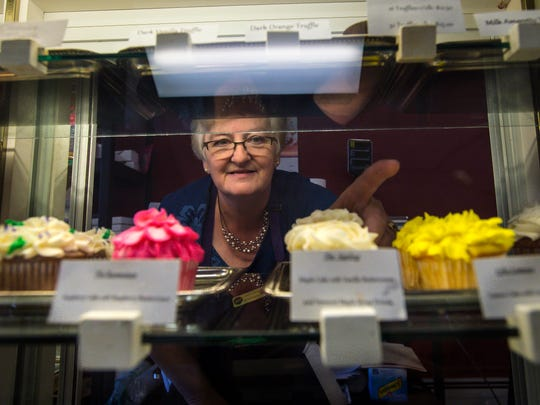 Cindy Poginy is offering her business, All About Cakes in Newport, to the winner of an essay and cake-cooking contest. Seen on Friday, July 1, 2016.