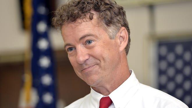 Republican Sen. Rand Paul speaks at an American Legion in Bowling Green, Ky., in August.