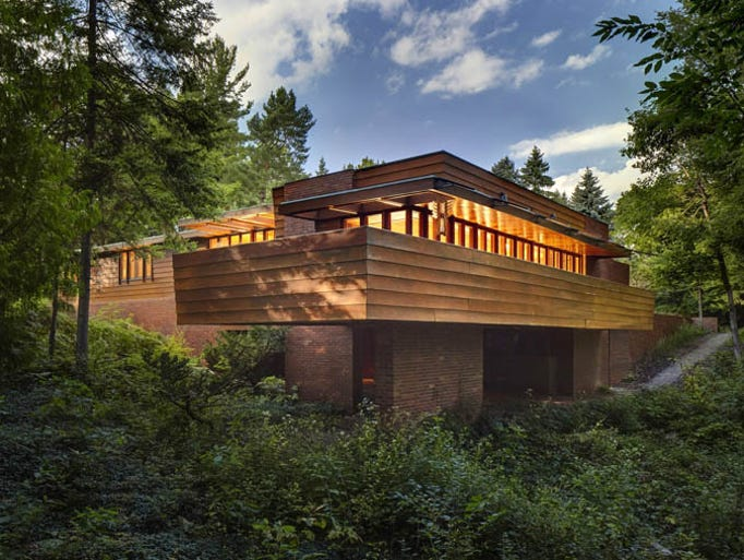 Tour highlights frank lloyd wright 39 s genius in detroit area - Frank lloyd wright architecture style ...