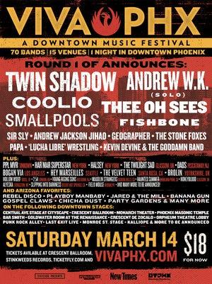 Viva Phx returns on Saturday, March 14 to downtown Phoenix.